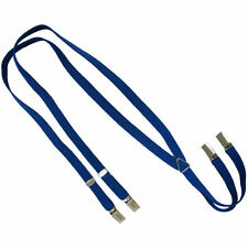 New Narrow .65 inch (1.7cm) (1.5cm) Blue Braces/Suspenders Skin/Mod/Punk