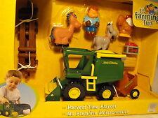 BABY BOY TOY  TOY FARM PLAY SET JOHN DEERE HARVEST FARM ANIMALS AGE 12 MONTHS +