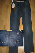 SEVEN 7 Swarovski crystal straight FIT JEANS 8-10 RP£150 new dark denim