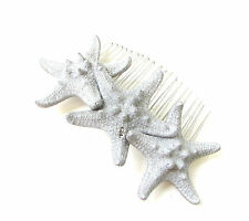 Silver Starfish Hair Comb Beach Mermaid Sea Bridesmaid Wedding Headpiece 261