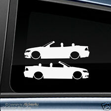 (240) 2x Fun Sticker Aufkleber Low and Slow BMW E46 Cabrio M3 Motorsport  Turbo