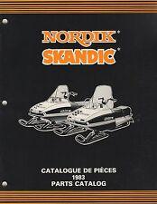 1983 SKI-DOO NORDIK, SKANDIC SNOWMOBILE PARTS MANUAL 480 1172 00 (579)