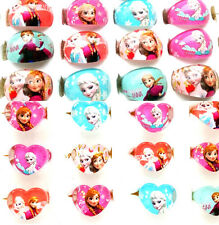 new 20pcs Frozen Anna Elsa children Resin Round and Heart rings party favor