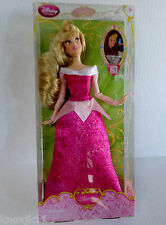 "NEW Disney Store Princess Aurora SLEEPING BEAUTY BARBIE DOLL 12"" Pink Dress NIB!"
