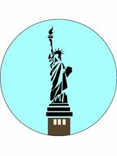 7.5 INCH STATUE OF LIBERTY CAKE TOPPERS DECORATIONS ON EDIBLE RICE PAPER