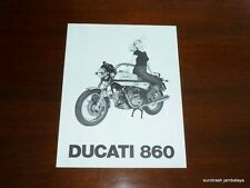 NOS Ducati 860 GT Brochure with girl bevel twin black and white