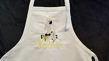 Umbrella Cockatoo Parrot, Bird Embroidered on A White Apron, This is pretty