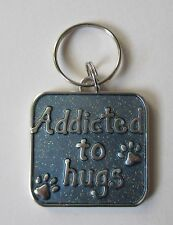 q Addicted to hugs Engravable DOG CAT PET COLLAR CHARM ganz jewelry