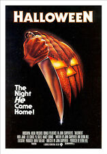 Framed Retro Movie Poster – Halloween 1978 (Replica Print Horror Cinema Film)