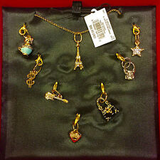 NWT 7 Seven Day of Juicy Couture Charm Pendant Necklace Set $98
