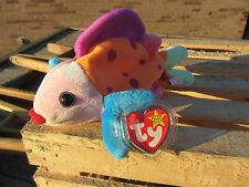 "TY Beanie Baby - LIPS Fish - approx 8.5"" long 1999 Plush Animal - Tag Protector"