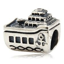Boat Ship Cruise Genuine 925 Sterling Silver Charm Bead For European Bracelet