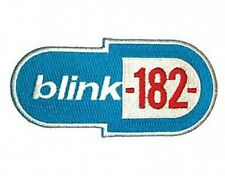 BLINK 182 blue logo 1999 - EMBROIDERED IRON/SEW ON PATCH import - HALLOWEEN