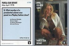 PLAYBOY  card  # 1PR  PAMELA JEAN BRYANT  Miss April 1978