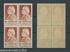 ALFRED FOURNIER - 1946 YT 748 bloc de 4 - TIMBRES NEUFS** LUXE