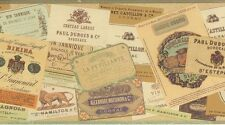 Wallpaper Border Designer French Wine & Liquor Labels