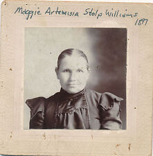 1897 Photo ID'd Maggie Artemisia Stolp Williams, 48 or 49 Yrs. Old, Cabinet Phot