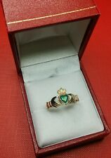 9ct Oro Claddagh Ring Dimensione Q-R