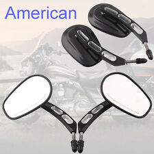 CNC Black Rear View Mirror For Harley Davidson Softail Springer Heritage Classic