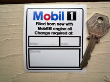 MOBIL ONE Filled From New Service Oil Change STICKER Car Engine Porsche Garage