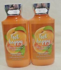 2 Get Happy White Peach Sangria Body Lotion Bath & Body Works 8 Oz