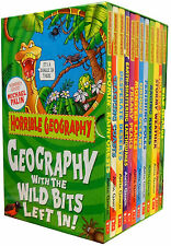 Horrible Geography Collection 12 Books Box Gift Set Horrible Histories Series