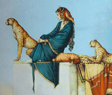 "CLASSIC FANTASY 32""x24""HIGH QUALITY WOVEN WALL HANGING TAPESTRY: SUDAN'S CHEETAH"