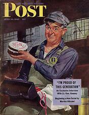 1943 Saturday Evening Post June 19-Kiska mission;Steep Rock Lake Ontario;Tunisia