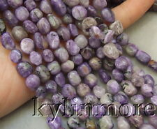 8SE10181 Purple Charoite 7x9mm Nugget Beads