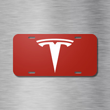 Tesla Vehicle Aluminum License Plate Auto Car Red Model 3 Model X S Electric NEW