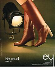 PUBLICITE ADVERTISING 104  1978  HEYRAUD  collection bottes