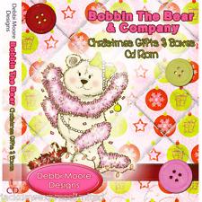 Debbi Moore Diseños Bobina El Oso Regalos De Navidad Y Cajas De Cd Rom (293886)