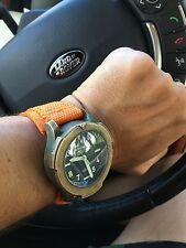 Canvas Nylon Orange 24mm Watch Strap For Helson Armida Benarus Maranez