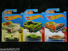 Hot Wheels 2016 Kmart Kdays Exclusive Colors VW, Fairlane, and Challenger