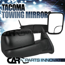 2005-2014 TOYOTA TACOMA MANUAL SIDE VIEW MIRRORS BLACK FLIP UP TOW TOWING PAIR