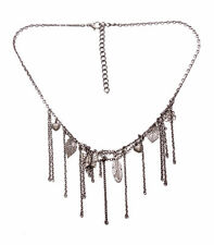 QUIRKY BOHO FESTIVAL STYLE MULTI CHARMS FASHION NECKLACE & HANGING CHAIN(ZX50)