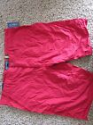 NEW AMERICAN RAG RED SHORTS MENS 36 SLIM FIT FLAT FRONT 100% COTTON FREE SHIP