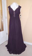 JOANNA CHEN FORMAL PROM GOWN EVENING PARTY DRESS - SIZE 16 - PLUM