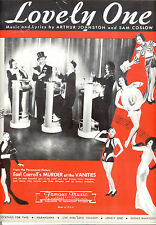 """MURDER AT THE VANITIES Sheet Music """"Lovely One"""" Carl Brisson"""