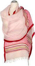 Bufanda Leinen, foulard rosa rojo verano scarf linen light pink Red Summer