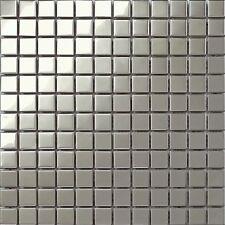 30x30cm Edelstahl Mosaik Fliesen Matte mit glatt Oberfläche MT0130