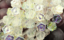 12 Crystal AB Czech Glass Flower Beads 12MM