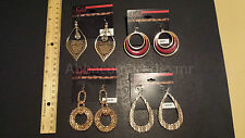 (4) Sofia Vergara Fashion Jewelry Earrings Faux Goldtone Large NWT Wire Backings