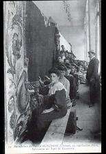 PARIS / AUBUSSON (II° / 23) USINE de TAPIS SCHENK , ATELIER animé début 1900