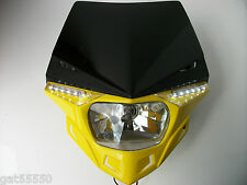 UFO YELLOW ROAD LEGAL HEADLIGHT ENDURO STREETFIGHTER SUZUKI RM RMZ DRZ DR GSXR