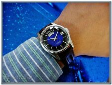Exquisite Vintage Mans Omax, Automatic 17J, Day and Date Stunning Black&Bue Dial