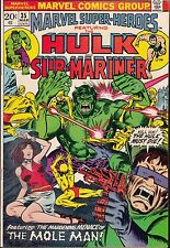 MARVEL SUPER-HEROES #35 1972 VF  HULK/ SUB-MARINER -vs MOLE MAN  STAN LEE