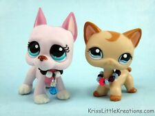 Littlest Pet Shop Accessories 2 pc Necklace Collar Tie Cloths Custom Outfit #76
