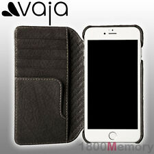 GENUINE Vaja Wallet Agenda Premium Leather Case Black f Apple iPhone 7 Plus 5.5""
