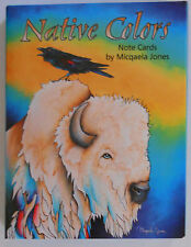 12 Leanin Tree Note Cards NATIVE COLORS, Bright & Colorful, Wolf, Bear, Buffalo